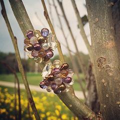 イヤリング(紫苑)台紙と共に