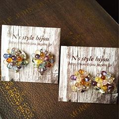 ハットピン(紫苑)(森羅)平置き